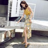 套裝裙 2019新款巴厘島沙灘海邊度假套裝女夏顯瘦一片式ins超火的半身裙 至簡元素