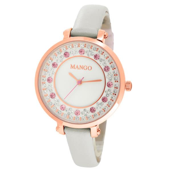 MANGO 水漾繽紛氣質時尚腕錶-MA6699L-85R