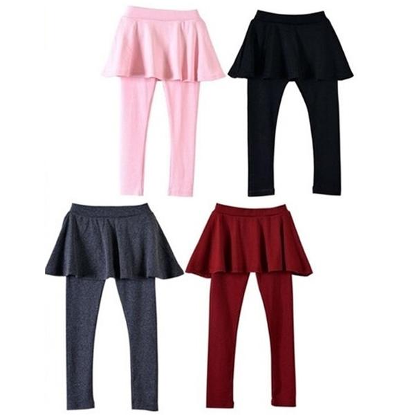 女童褲裙 內搭褲 打底褲 蛋糕裙褲 棉質褲裙 棉質長褲 KC21231