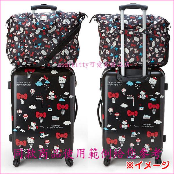 asdfkitty可愛家☆雙子星輕量粉旅行風行李箱拉桿手提袋/斜背包-可收納購物袋/波士頓包-日本正版