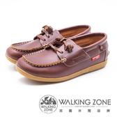 WALKING ZONE 時尚經典休閒帆船鞋 雷根鞋 女鞋- 咖(另有藍)
