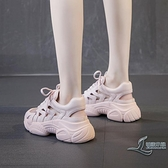 運動鞋女鏤空老爹鞋透氣厚底休閒夏季包頭涼鞋【邻家小鎮】
