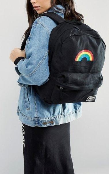現貨 Vans Realm Classic Backpack經典彩虹背包黑色