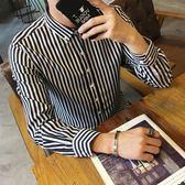 襯衫男士白長袖修身韓版潮流帥氣青少年打底內搭衫衣夏季短袖襯衣  莉卡嚴選