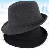 帽子男春秋禮帽男士帽子冬毛呢保暖秋冬中老年人爵士帽冬天老人帽 錢夫人
