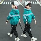 男童套裝 男童套裝春秋裝2021新款帥洋氣兩件套運動中大兒童韓版網紅時髦【快速出貨八折搶購】