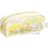 〔小禮堂〕角落生物  防水拉鍊筆袋《綠黃.花園》鉛筆盒.化妝包.收納包 4974413-72757
