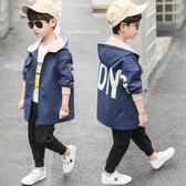 男童春裝外套新品中大童兒童大童男孩夾克洋氣上衣風衣正韓潮