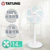 TATUNG大同 14吋機械式電風扇(立扇)  TF-L14W