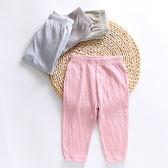 極簡柔棉彈力皺皺防蚊長褲 童裝 居家褲 休閒長褲