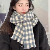 圍巾 格子圍巾女冬季正韓長款披肩兩用學生加厚百搭保暖圍脖潮【快速出貨】