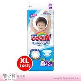 【嬰之房】日本 GOO.N 大王 阿福狗頂級境內版尿布XL-168片