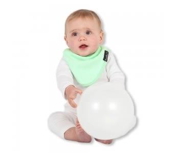 紐西蘭 Mum 2 Mum 機能型神奇三角口水巾圍兜-薄荷綠 吃飯衣 口水衣 防水衣