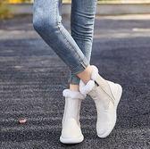 店長推薦★秋冬季新款加絨保暖棉鞋女平底中筒學生雪地靴女短靴女鞋