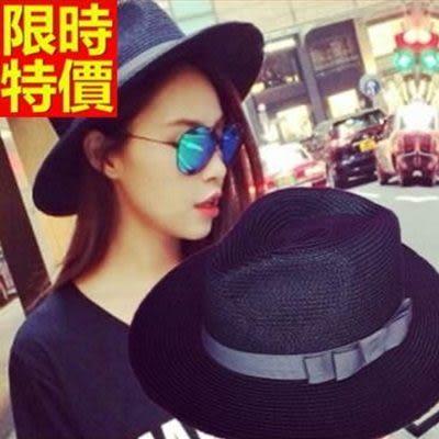 小禮帽-遮陽時尚夏季草編潮流女爵士帽3色67e15【巴黎精品】