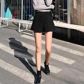 短褲 毛呢短?女秋冬季外穿高腰a字百搭?瘦秋款?腿打底靴?【快速出貨】