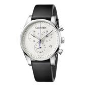 Calvin Klein CK美式簡約三眼皮帶腕錶(K8S271C6)42mm