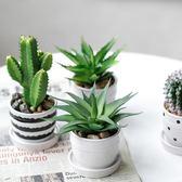 仿真植物盆栽ins風綠植室內裝飾桌面假多肉仙人掌小擺件  igo 居家物語