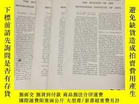二手書博民逛書店1938年罕見《明尼阿波利斯藝術學院會刊》(THE BULLET