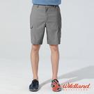 【wildland 荒野】男 彈性抗UV貼袋功能短褲『礦石岩』0A81386 戶外 休閒 運動 露營 登山 騎車