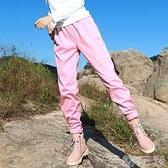 戶外新女運動純色收腳防風透氣保暖登山徒步健身軟殼褲抓絨沖鋒褲