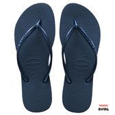 Havaianas 哈瓦士 新竹皇家 H.SLIM 深藍 細帶 夾腳鞋 女款 NO.H2194