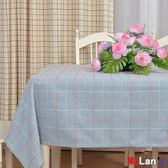 [百姓公館] 防油桌布 桌布 布藝 棉麻 長方形 格子 圓桌 方餐桌 蓋布巾