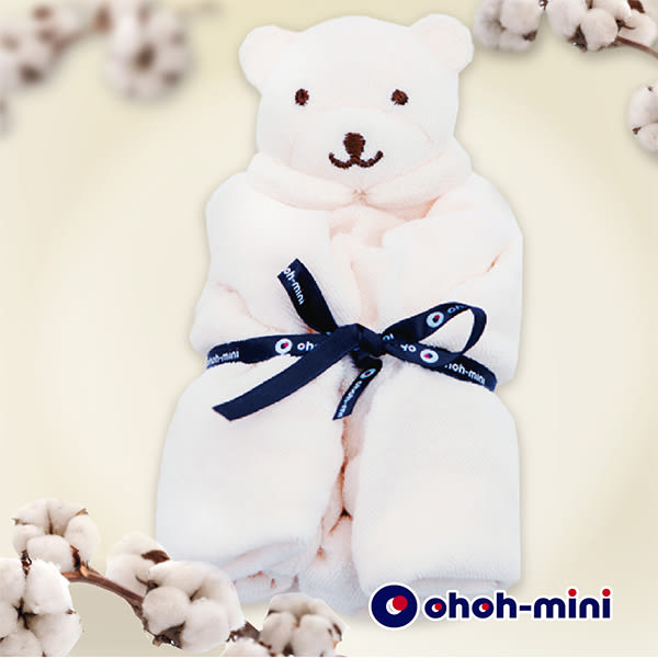 【ohoh-mini 孕婦裝】有機棉熊熊安撫巾