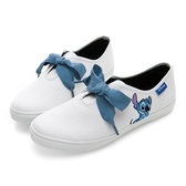 Disney 童話樂園 史迪奇電繡綁帶休閒鞋-白