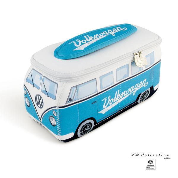 VW Brisa T1 Bus 立體造型收納包-淺藍