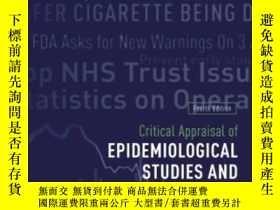 二手書博民逛書店Critical罕見Appraisal Of Epidemiol
