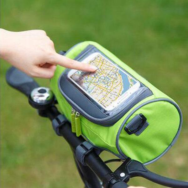 多功能手機觸控腳踏車包 自行車收納包 3C收納包(附揹帶)-艾發現