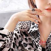 指環套裝 惡魔之眼四件套裝ins潮關節戒指食指環女個性時尚歐美冷淡風網紅 多款可選