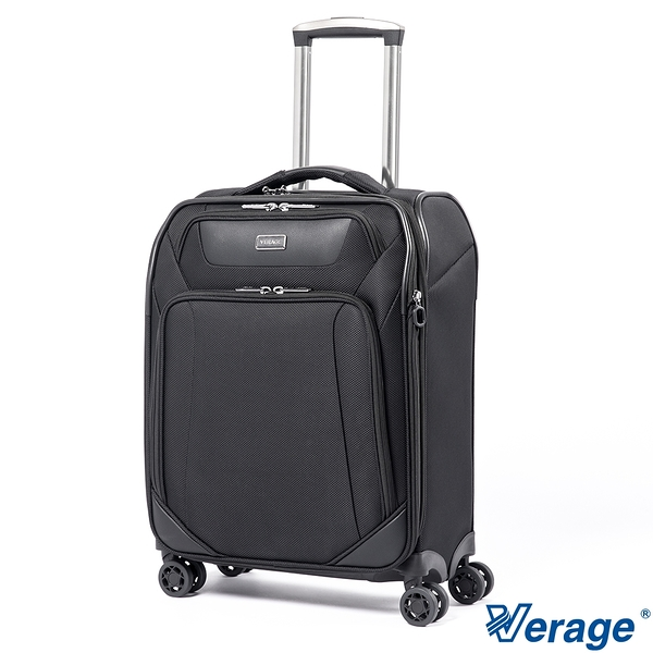 Verage 維麗杰 20吋TEFLON防汙防潑水耐磨多網袋可擴充行李箱 商務系列 - 黑色 原廠公司貨