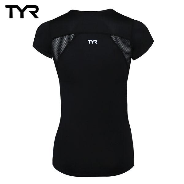 美國TYR 女款透氣排汗黑色短T Ladies Running Tee 台灣總代理