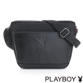 PLAYBOY- 斜背包 公路系列-個性黑