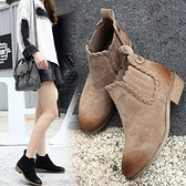 低跟短靴-歐美擦色時尚加絨女馬丁靴2色73is36[時尚巴黎]