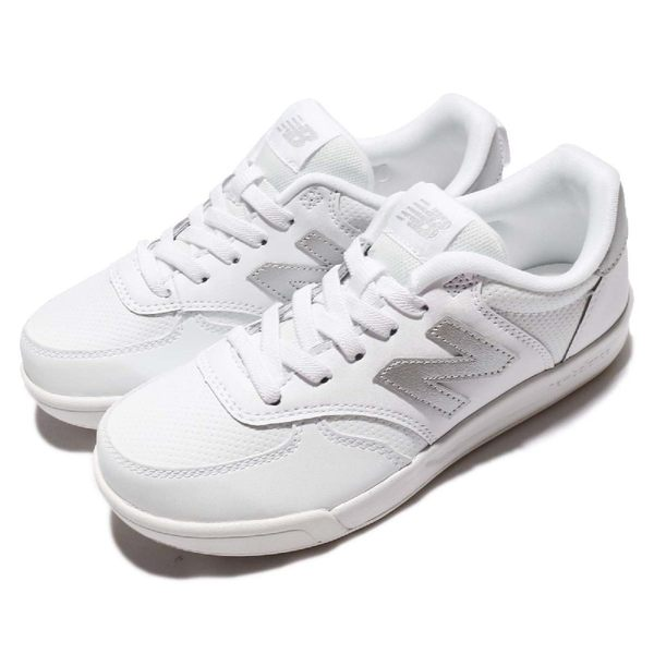 New Balance 休閒鞋 300 NB N字鞋 白 銀 免綁鞋帶 運動鞋 童鞋 中童鞋【PUMP306】 KT300WTPW