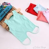 嬰兒肚兜純棉夏季四季通用薄款冬季新生兒肚兜兒童護肚圍棉背心式color shop