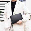 壓花輕便男士手機包 簡約潮流時尚夾包手抓包 商務手拿包大容量手包 韓版手拿包休閒男生包包