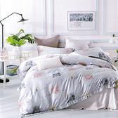 【Indian】100%純天絲加大兩用被床包四件組-樂園狂歡