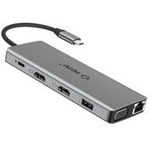 【美國代購】TOTU 12合1 USB C 集線器  以太網 4K HDMI VGA  79W PD 用於Mac Pro
