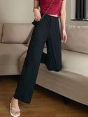 女裝秋季2021新款高腰垂感直筒西裝褲寬鬆闊腿長褲休閒褲子顯瘦潮 米娜小鋪