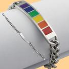 彩虹鈦鋼手鍊 316不銹鋼 簡約 情侶款 手鍊 手環 同性 LES 手鍊 手環 沂軒精品 F0006-4