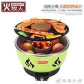 烤網 燒烤爐木炭戶外室內便攜無煙燒烤架韓式烤肉爐子帶電吹風機 igo 優家小鋪