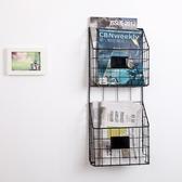 雜誌架 歐式創意鐵藝壁掛書架墻壁報刊架書報紙雜志架資料展示架置物架子
