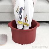 泡腳桶泡腳桶過小腿家用高深桶塑料泡腳盆足浴盆加高按摩洗腳足浴桶(免運快出)