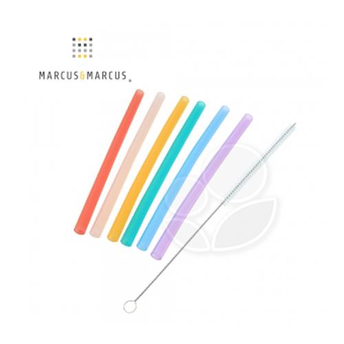 Marcus & Marcus 動物樂園果凍矽膠吸管7件組【佳兒園婦幼館】