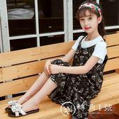 女童連衣裙夏裝2018新款韓版童裝中大兒童吊帶裙碎花裙小女孩裙子