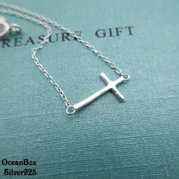 ☆§海洋盒子§☆細緻小巧十字架925純銀手鍊 《925純銀手鍊》